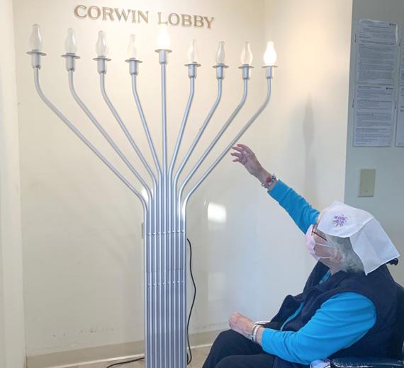 Chanukah at the Jewish Home